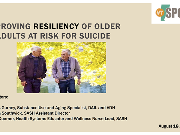 Improving Resiliency for Older Adults at Risk for Suicide