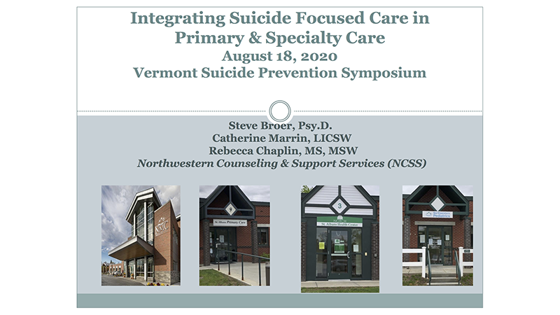 Integrating Suicide Focused Care in Primary & Specialty Care