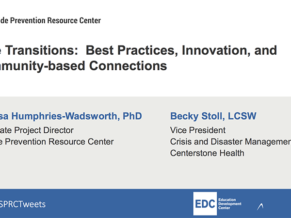 Care Transitions: Best Practices, Innovation, and Community-based Connections